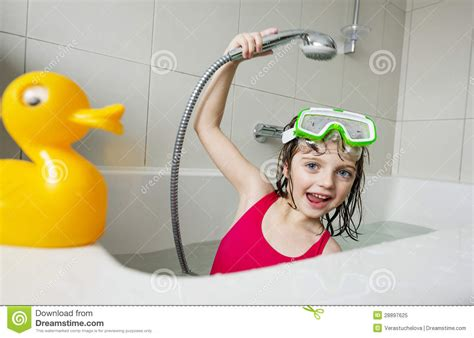 girl in a bathtub little girl in a bathtub royalty free stock photo image