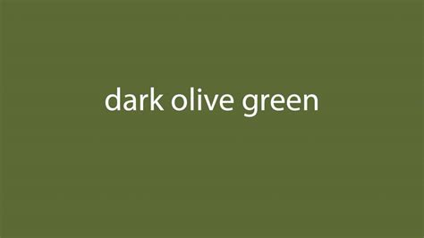 the color olive how to pronounce olive green all colours