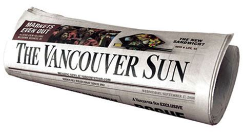Vancouver Sun Travel Section by Us Hedge Funds Squeezing Profitable Postmedia Union The