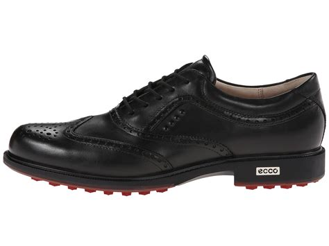 ecco s tour hybrid wingtip golf shoes black brick ebay