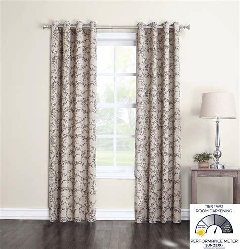 room darkening curtains sun zero brinley room darkening curtain panel 50 x 63 quot home kitchen