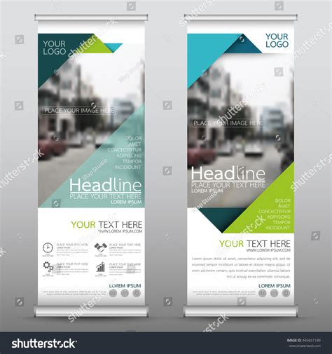 design banner publisher green roll business brochure flyer banner stock vector