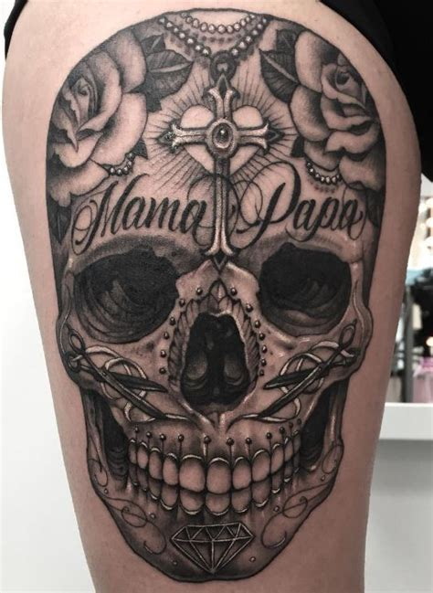 great sugar skull tattoo d 246 skallar
