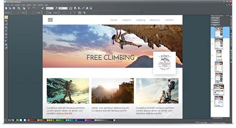 Moderne Homepage Vorlagen Free Website Software Xara Web Designer
