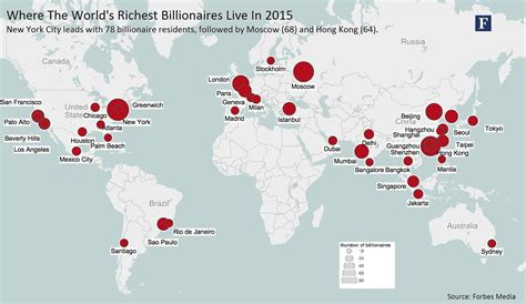 the world cities map new york to hong kong cities with the most billionaires