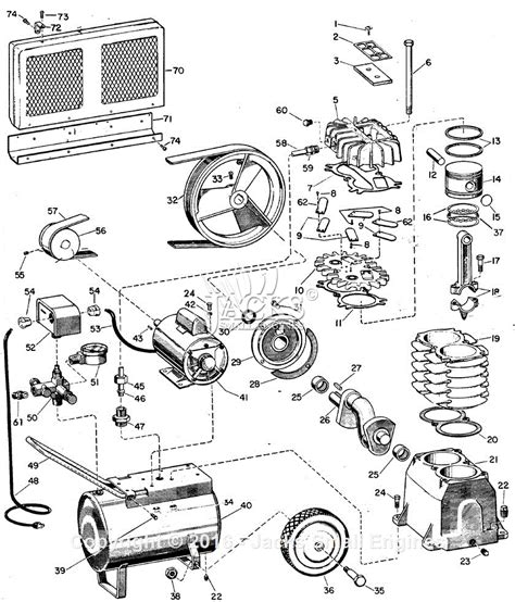 cbell hausfeld fl3204 parts diagram for air compressor