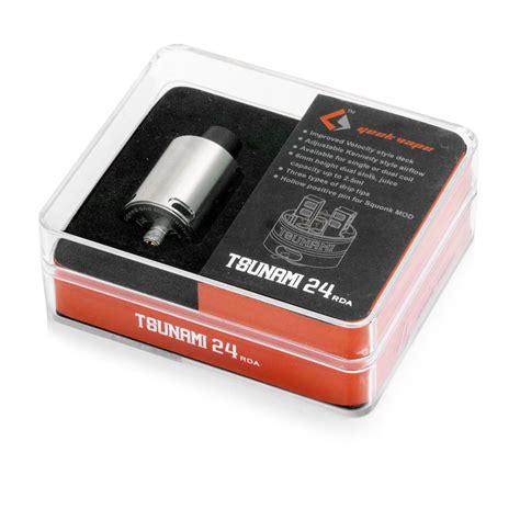 Atomizer Rda Tsunami 24mm Rebuild Drip Atomizer authentic geekvape tsunami 24 rda silver rebuildable atomizer