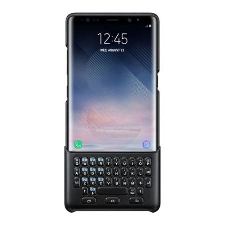 Note 8 0 Keyboard official samsung galaxy note 8 qwerty keyboard cover black
