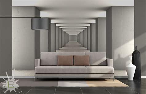 Wohnzimmer Ideen Wandgestaltung 5139 by Fototapeta Korytarz 3d Schablonen R 228 Ume 3d
