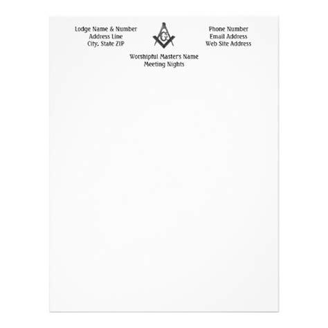 Vintage Style Masonic Lodge Letterhead Zazzle Masonic Lodge Website Templates