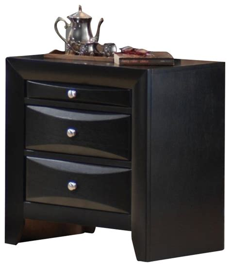 coaster lancashire two drawer nightstand with built in coaster briana 2 drawer nightstand in glossy black finish