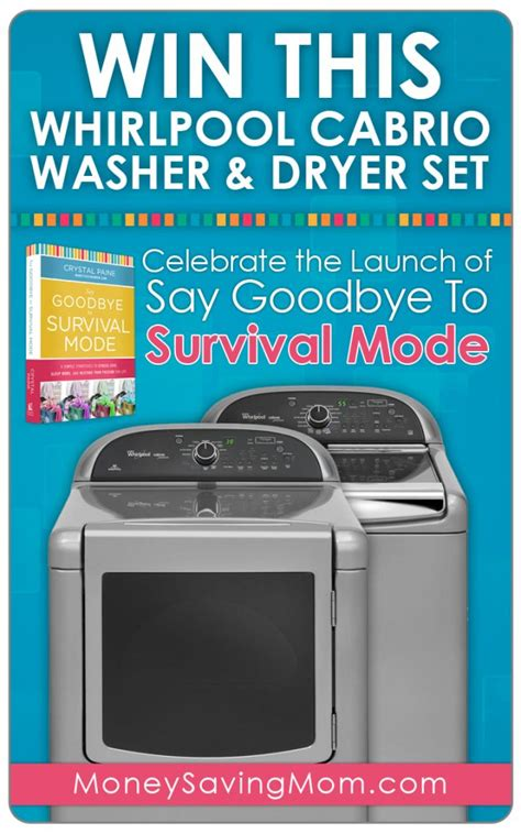Free Washer Dryer Giveaway - win a whirlpool cabrio washer dryer set money saving mom 174