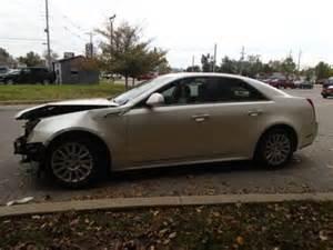 Crashed Cadillac Cts Buy Used 2010 Cadillac Cts Salvage Damaged Runs And Lot