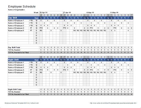 weekly schedule planner template excel
