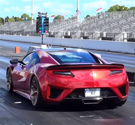 modified  acura nsx drag racing video dpccars