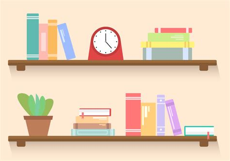 On The Shelf Book Free by Free Bookshelf Vector Free Vector Stock