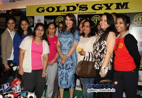 golds gym fan hours madhuri dixit promotes gulaab gang at gold s gym photos