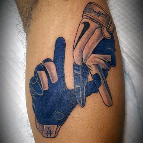dodger tattoos 60 los angeles dodgers tattoos for baseball ink ideas