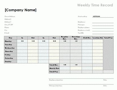 Weekly Timesheet Template Excel Free Download Doyadoyasamos Com Timesheet Template Excel Free