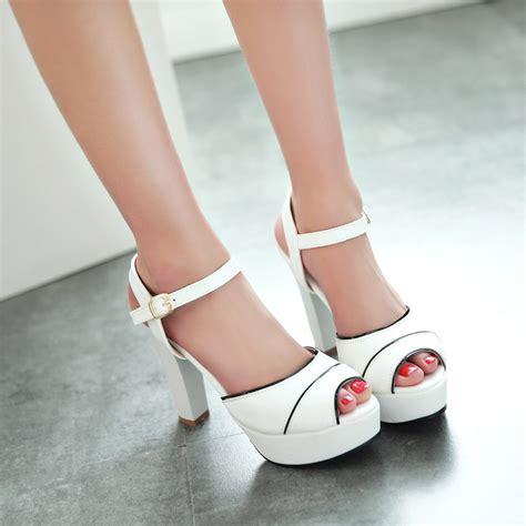 high heels krd white wedding shoes platform white high heel