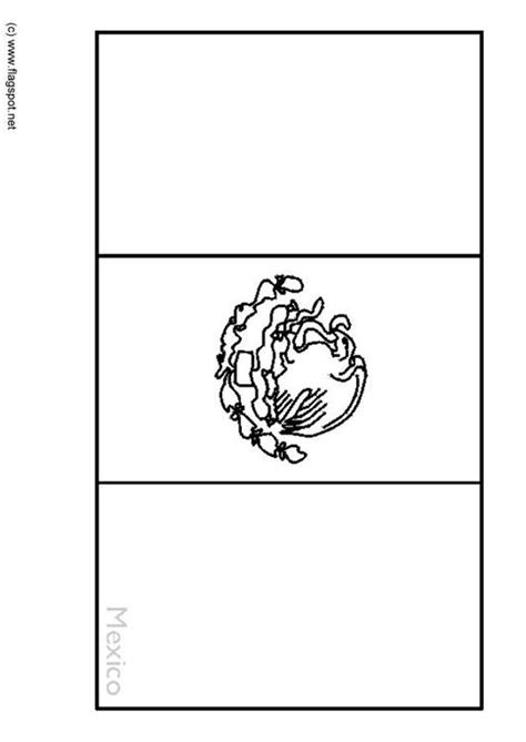 mexico flag coloring page with key kleurplaat mexico afb 6357