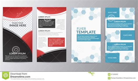 layout for flyer flyer layout design template stock vector image 67428282
