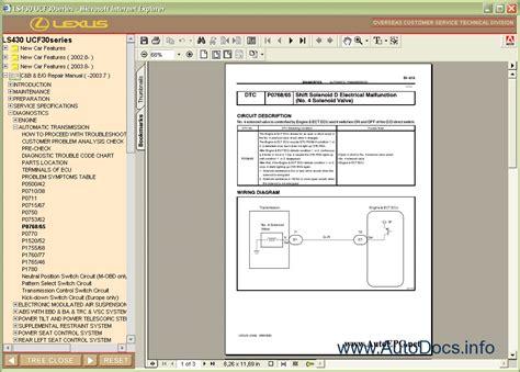 lexus ls430 repair manual download lexus ls430 repair manual order download