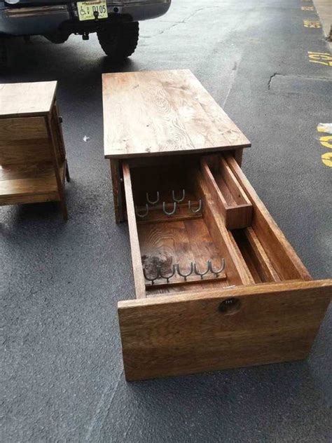 coffee table with locking gun safe by hoss12992