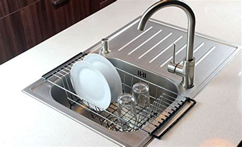 Kitchen Sink Drainer Rack the sink kitchen dish drainer rack durable chrome plated steel black pet bed cat