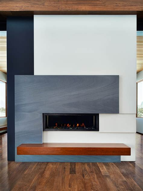 neolith slab matte fireplace grey white spain   Fox Marble