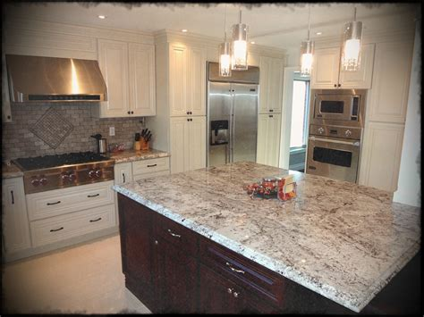 mostpulsory white kitchen black island with granite top