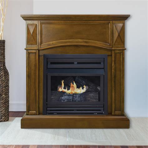 pleasant hearth compact 36 in vent free gas fireplace in