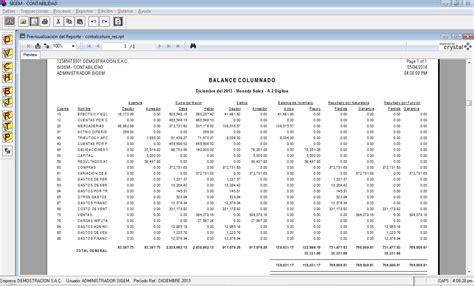 balance de comprobacion de 2015 sistema contable sigem ple pdb pdt importa desde