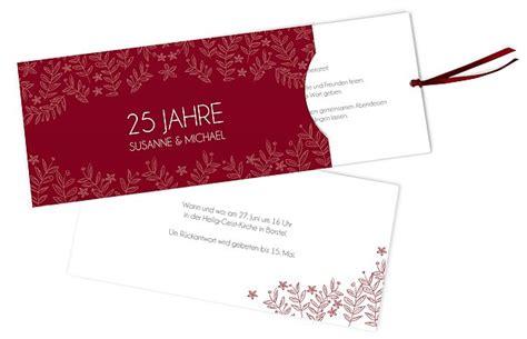 Einladung Zur Silberhochzeit by Einladungskarten Zur Silberhochzeit Edel Individuell
