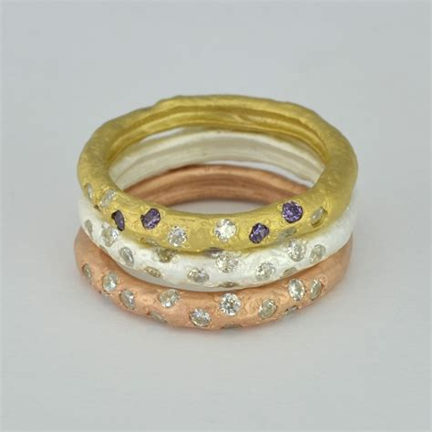 play with sterling silver matt stacking ring with