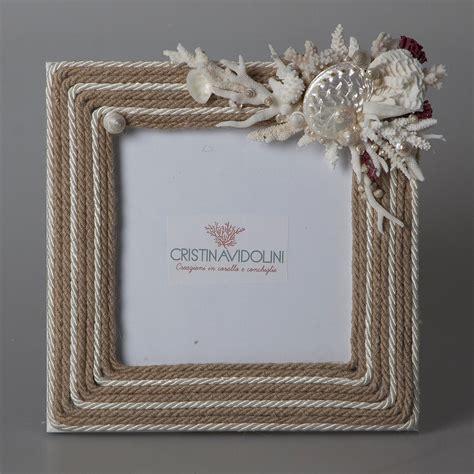 cornici con conchiglie cornice con corda e coralli cristina vidolini