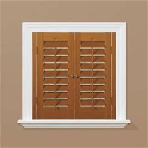 interior plantation shutters home depot crowdbuild for homebasics plantation faux wood oak interior shutter