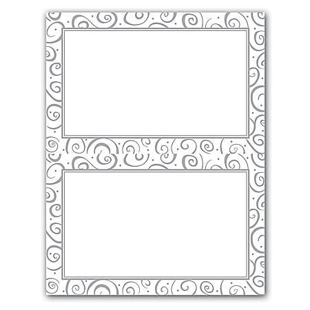 Gartner Studios Thank You Cards Template by Gartner Studios 2 Up Invitations 5 12 X 8 12 Silver Swirl