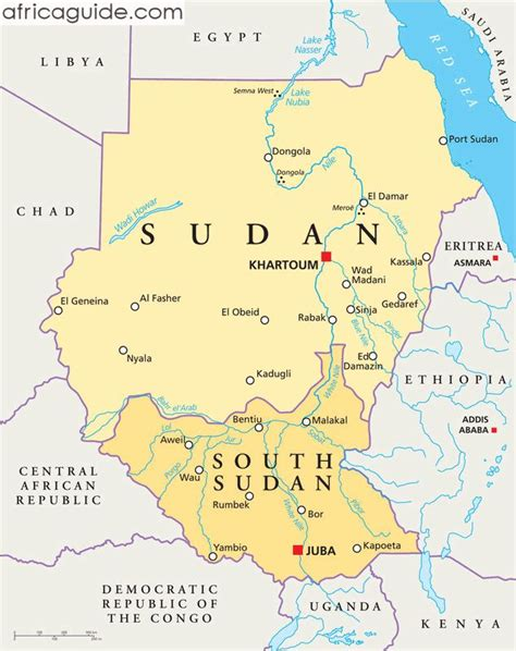 where is sudan on the world map sudan and south sudan map with capitals khartoum and juba