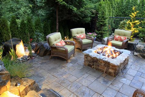 Concrete Patio Bench Brick And Concrete Fire Pits Hgtv