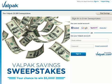 Valpak Com Sweepstakes - valpak 5 000 sweepstakes