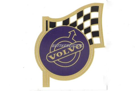 Volvo Aufkleber Online Shop by Aufkleber Volvo Blau Mit Flagge