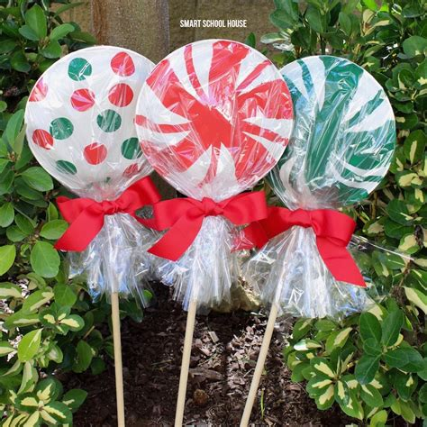 christmas yard lollipops how to make a sleigh smart school house