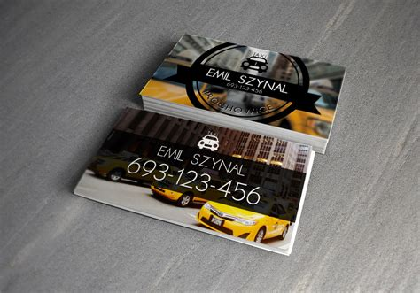 Taxi Name Card Template by 15 Business Card Designs For Taxi Business Naldz Graphics