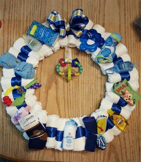 boy baby shower colors baby boy wreath for baby shower baby shower gifts
