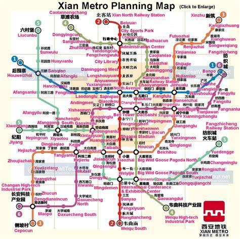 xian map maps  xian china travel xian guide