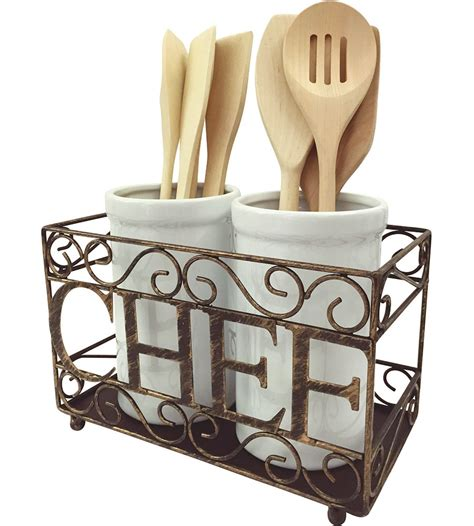 kitchen utensil holder utensil crock holder in kitchen utensil holders