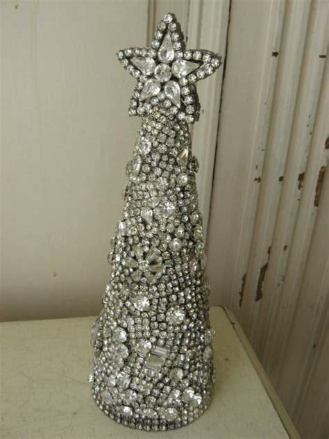 bedazzled christmas tree lights exquisite cone shape christmas tree made w vintage
