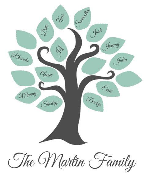 printable family tree silhouette printable family tree printable pinterest trees
