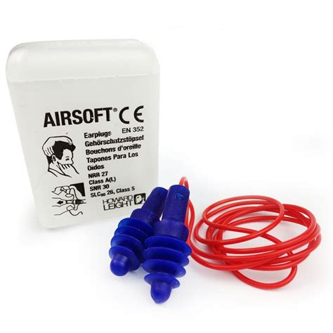 Earplug Howard Leight Airsoft howard leight airsoft 1030612 corded with storage just